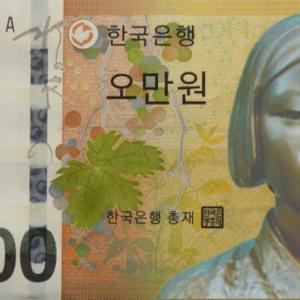 【韓国の反応】 紙幣の絵を描いた画家が親日家と判明し大混乱 新日辞典から発覚 紙幣全取っ替えか?