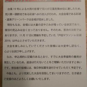 〔悲報〕戸田マラソン中止!