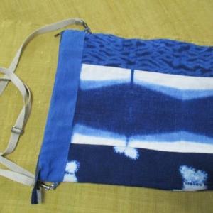 藍染布で軽いバッグを作った
