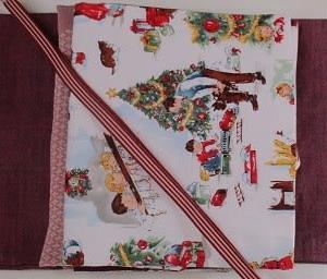 母の赤い紬とクリスマスの帯