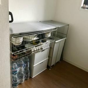 キッチン収納について。フレキシブルな無印のステンレスユニットを選びました