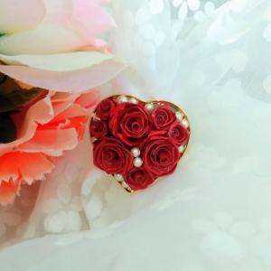 紅いばらのロザフィでハート型のブローチを♡