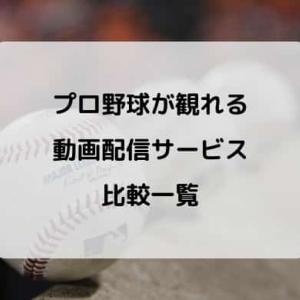 【無料あり/比較】2021 プロ野球ライブ中継&見逃し配信おすすめ動画サービスまとめ