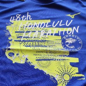 ホノルルマラソン2021プレエントリーTシャツプレゼント当選!