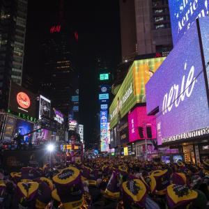 ニューヨーク タイムズスクエアで年を越す!!