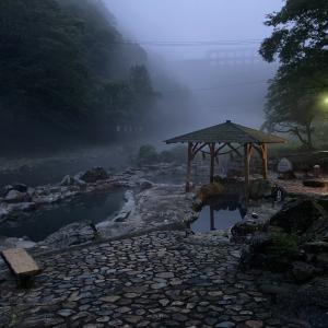 日本一周 岡山 無料の混浴露天風呂 湯原温泉 砂湯を堪能