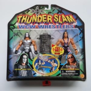 WCW 2000 TOY BIZ THUNDER SLAM STING & BRET HART
