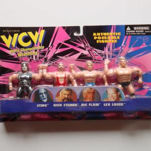 WCW AUTHENTIC POSEABLE FIGURES 4体(スティング・フレアー・ルガー・スタイナー)