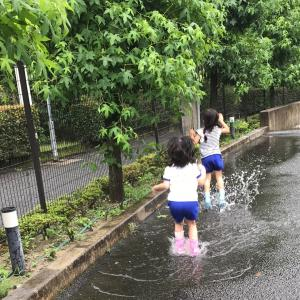 【4歳娘】水たまりで泳ぐ!〜器が大きい母に憧れて〜