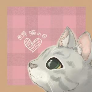 8月8日は世界猫の日だそうです❀。*