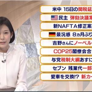 【2019.12.11】テレビ東京 報道まとめ