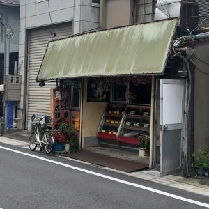 鳥取市街の路地、『大国や』の鳥肉のお惣菜。
