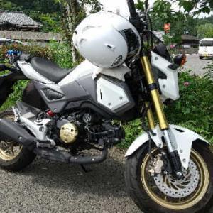 久しぶりのバイク(道の駅ながゆ温泉)