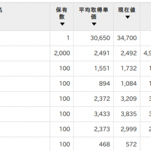 日本株が全てプラスになったので、嬉しみの勢いでスクショ取ったぞ。