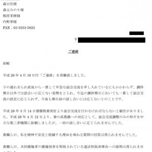 【拉致断絶79日目】離婚弁護士達への手紙