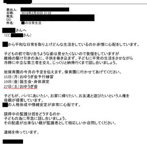 【拉致断絶18日目】妻へのメール