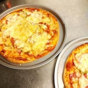 ピザを焼いた&今週のメニュー。