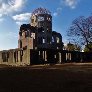 一週間 広島原爆ドームの景色..