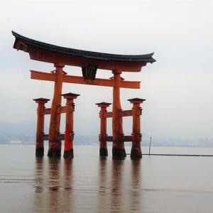 雨の世界遺産宮島  鳥居