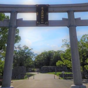 夕暮れ時の広島城