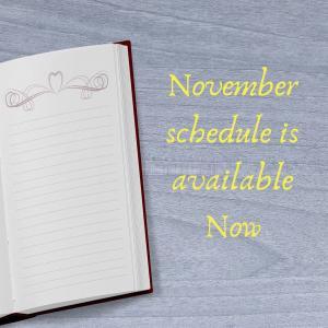 11月スケジュール更新