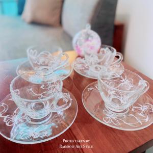 ガラスのカップ&ソーサー 作品ご紹介