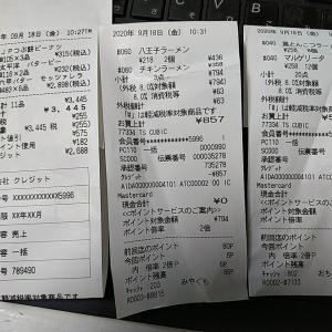 ( ゚∀゚)可能性の食料品買い出し 9月の決済分は原則として〆