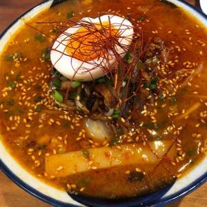 淡路島・淡波家で、ラーメンランチ❗️新作の野菜たっぷり辛味噌坦々麺と、自家製鉄板餃子が旨し😆