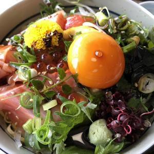淡路島・魚繁で、さくら咲く丼ランチ❗️サクラマスを初めて食べました〜😄