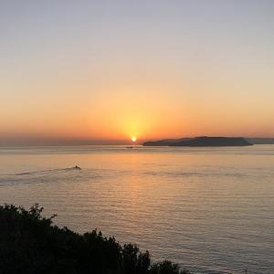 【洲本八景3】淡路島から望む紀淡海峡の朝明けは、清々しく気持ちよし❗️野鳥の声がBGM😁
