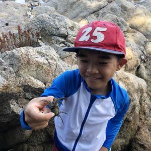 淡路島・厚浜で磯遊び❗️小さいビーチもあって、子供も大人も楽しいよ〜😁