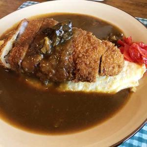 淡路島・山茶花(さざんか)でランチ❗️一番人気のオムカツカレーで、夜までお腹いっぱいでした〜😁
