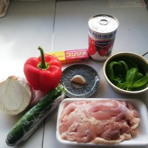 チキンのトマト・バジル煮