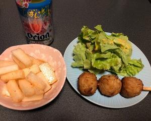 ファミマ惣菜で晩酌