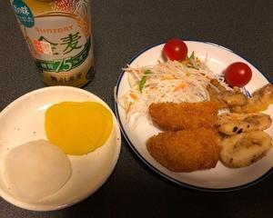 オールスーパー惣菜で晩酌