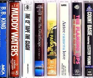 【USED輸入カセット】ブラー、クラッシュ、フレーミング・リップス、マディー・ウォータースなど…オルタナ、ブルース等のカセット・テープ20本