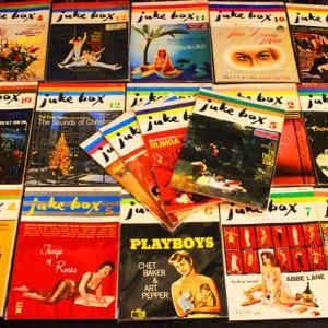 ◆レコードと一緒に昭和30年代の音楽雑誌「ジュークボックス juke box」創刊号より30冊ほど入荷がありましたー!