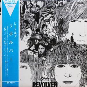 ◆赤盤◆東芝音楽工業オデオン初回¥1750盤/V字(三角)水色帯付きLP硬ジャケ◆ビートルズ The Beatles「Revolver」Odeon OP-7600
