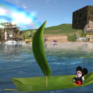 笹船 にゃんこで乗ったら かわいい