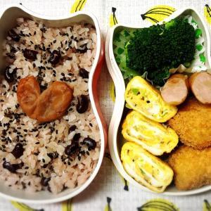 今日のお弁当〜ネギちりめん卵焼きと柿!