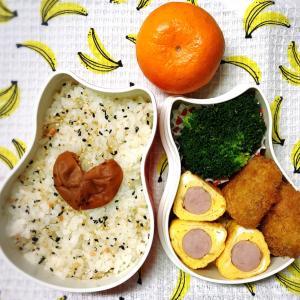 今日のお弁当〜ウインナー入り卵焼き!