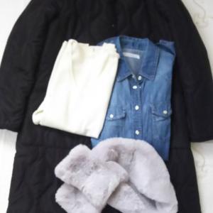 寒い日コーデ◇ダウン代わりの黒キルティングコートと残してよかった洋服