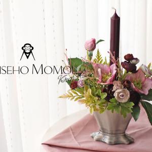 【募集】キャンドルとアーティフィシャルフラワーで秋のエレガントな造花レッスン