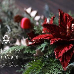 クリスマス・ガーランドの制作レッスンを動画撮影しましたが、、、
