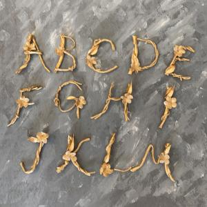 アルファベットを入れるフラワー作品を作る