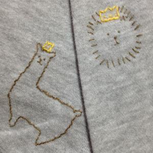 Tシャツに刺繍しました