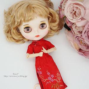 < 22cmドール服:チャイナドレス >