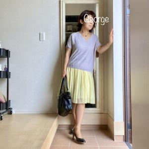 20210622 チュール付きスカートで、娘とリンクコーデ