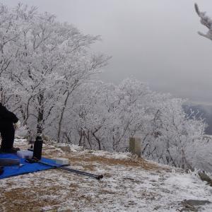 【山道を歩こう】綿向山 ⇒ 竜王山 縦走 ~樹氷を見ながらおせちを食べる~