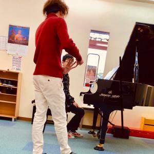 二日酔いとピアノレッスン。
